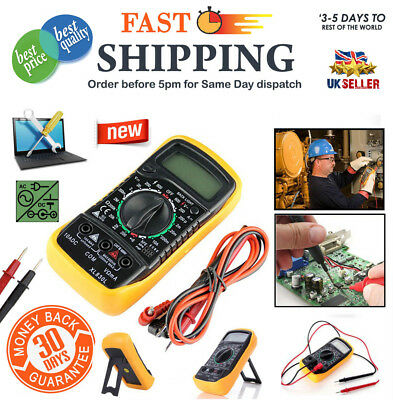 LCD Digital Multimeter Voltmeter Ammeter AC DC OHM Current Circuit Tester Buzzer