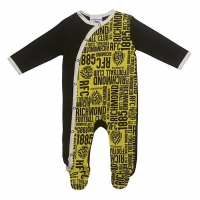 Richmond Tigers AFL Babies Coverall Suit BNWT Footy Baby Clothes