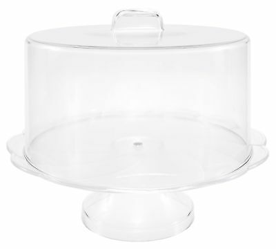 Unbreakable Plastic Cake Stand with Cover, Cake Plate with Dome, Pedestal
