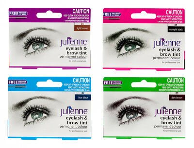 Julienne Permanent Eyelash Brow Tint Colour Dye Lash Tinting & Free Wand