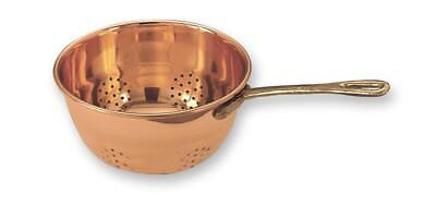 Old Dutch Decor Copper Hanging Colander with Brass Handle, 10-1/2 by 6-Inch