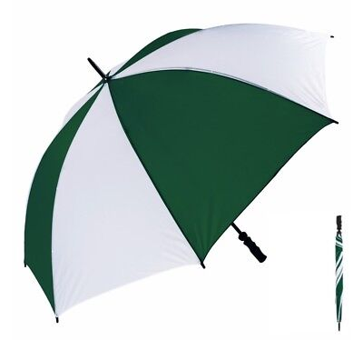 Large Susino Golf Umbrella Wind Resistant Fibre Light Ribs - Green and White