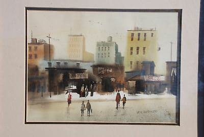Original Water Color Painting Framed Art Signed Berger American Artist