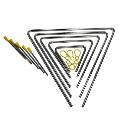 Metal Triangle With Stick Rhythm Early Education Percussion Instrument Toy GA