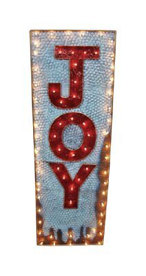 "Celebrations 02384 60"" Christmas JOY Indoor/Outdoor Lighted Yard Sign Decoration"