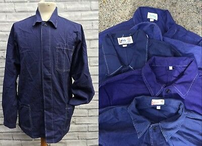 French Worker CHORE Work Jackets - White Seam/Blue - Various Sizes XS S M L XL