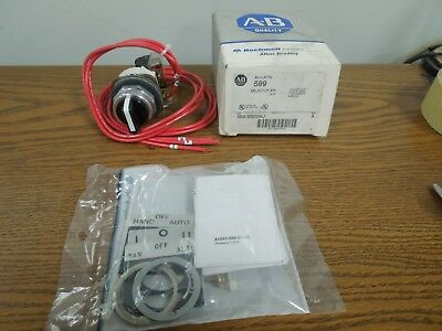 Allen-Bradley 599-SS09HJ 3 Position Selector Switch Kit Hand-Off-Auto Sizes 0-9