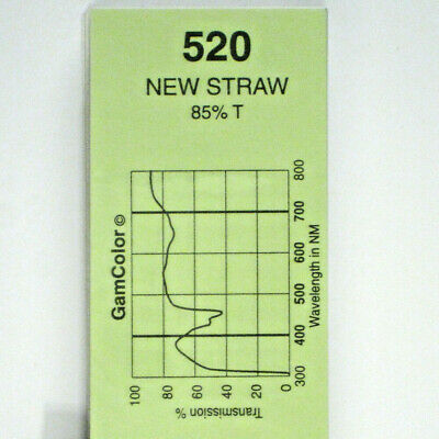 GAM  #520 New Straw gel color media filter sheet