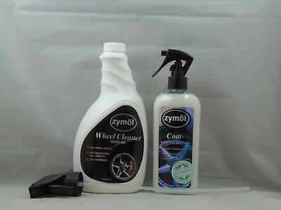 Zymol Wheel Cleaner Spray Gel 22oz  Coat Wheel Wax and Finish set for all finish