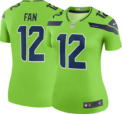 Nike NFL Seattle Seahawks Color Rush Limited  12 FAN Women s Jersey - SZ  Large 1739d1de9