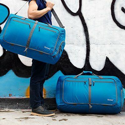 Unisex 80L Packable Travel Duffle Bag, Large Lightweight Luggage Duffel Blue New