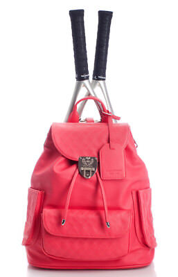 Court Couture Hampton Quilted Tennis Backpack in Strawberry Ice