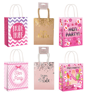 4 x hen party bag printed paper bag wedding gift bag hen night bags