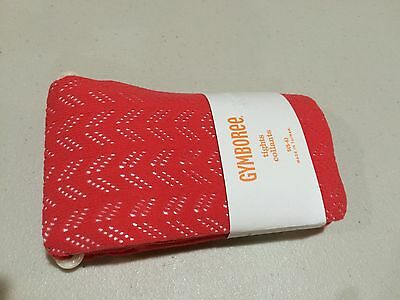 NWT Gymboree girls tights Coral Happy Bluebird 5-6