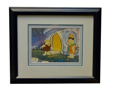The Flinstones Original Production Cell Framed and Matted with COA