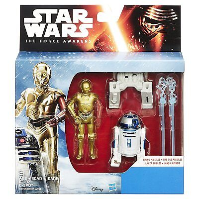Star Wars The Force Awakens 3.75 Inch C-3PO R2-D2 Action Figures NEW