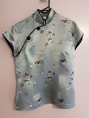 Ladies Asian Inspired Vintage Top Size 14