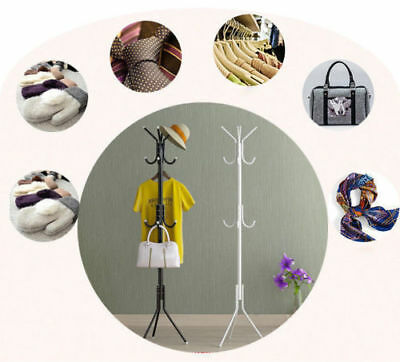 12 Hooks Umbrella Stand Coat Cloth Jacket Hat Rack Hanger Tree Holder Bathroom