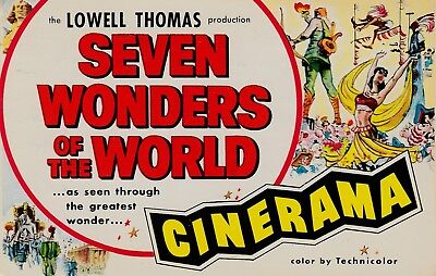 1968 Seven Wonders Of The World Cinerama Postcard Promo Free Shipping