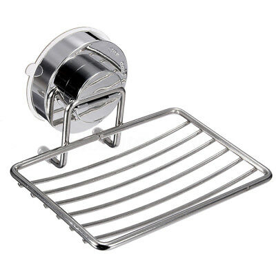 7KG Strong Suction Wall Soap Dish Holder Bathroom Shower Cup Basket Tray Si F1J5