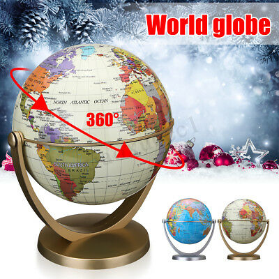 U.S.A World Globe Earth Ocean Map W/ Rotating Stand Geography Educational Office