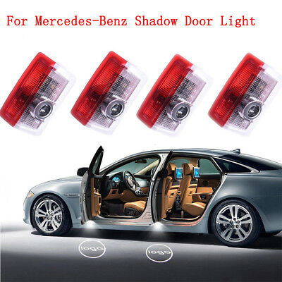 4Pcs LED Door Step Laser Courtesy Projector Ghost Shadow Light For Mercedes-Benz