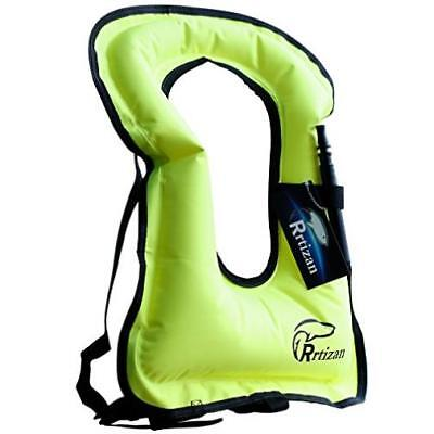 Rrtizan Unisex Adult Portable Inflatable Canvas Life Jacket Snorkel Vest For Com