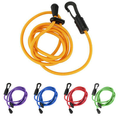 Kayak Boat Canoe Paddle Leash Fishing Rod Coil / Tether / Bungee Cord, Purp@T5N4