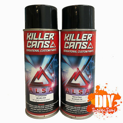 Alsa Prizmacoat + MirraClear Value Pack Spray Paint Kit Holographic Fine Glitter