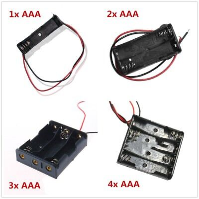 AAA Cell Battery Holder Box Snap On Connector 1.5V DC Case with Wire Lead