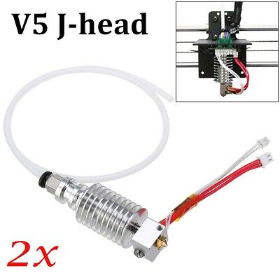 2X V5 J-head Hot End 0.4 mm / 1.75 mm für Anycubic I3 Mega 3D Drucker Extruder