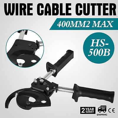 Ratchet Cable Cutter Φ22.6mm/400mm2 Handle RatchetingAdjustable Wire Cutter