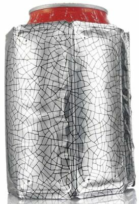Vacu Vin Rapid Ice Can Cooler Chiller Jacket Sleeve Silver New