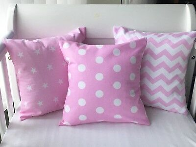 "12"" Handmade Cushion Cover Pink Polka Dots 💗"