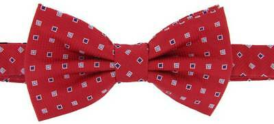 David Van Hagen Squares Bow Tie - Red