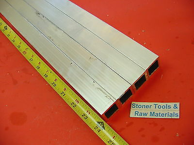"4 Pieces 1""x 1""x 1/16"" Wall x 24"" Long ALUMINUM SQUARE TUBE 6063 T52 1""OD 7/8""ID"