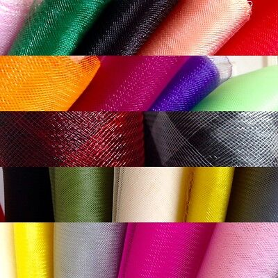 "CT02 Crinoline 6"" 5mtr Plain Millinery trim for fascinator hat sinamay craft use"