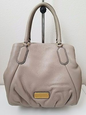 c2ed5a2bb0 Nwt Marc By Marc Jacobs New Q Fran Satchel Tote Bag Leather Cement Beige