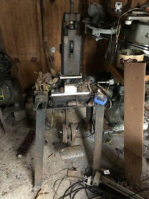 VINTAGE MANUEL METAL PRESS WITH STAND Blacksmith Metalworking fabrication