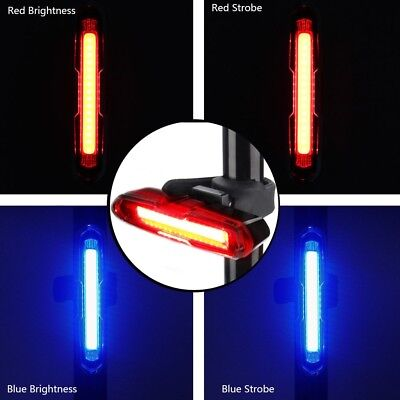 LED USB Rechargeable Bicycle Bike Rear Tail Light 5 Modes Flashlight Light Lamp