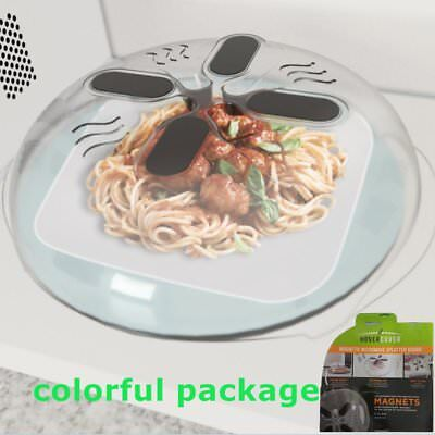 Microwave Hover Cover Protector Food Anti-Sputtering Magnetic Lid Steam GY