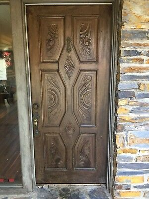 Antique Carved Mahogany Front Door