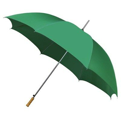 Mini Compact Golf Umbrella with Wooden Handle & Automatic Opening - Green
