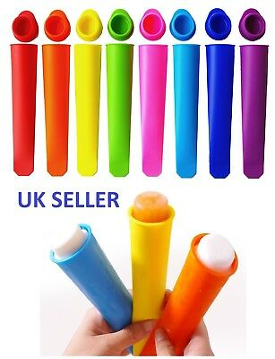 3-12x Silicone Ice Lolly Maker PushUp IcePop Mold Smoothie Yogurt Popsicle Mould