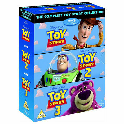 Toy Story 3-Movie Collection Disney Blu-Ray Box-Set Disc Region-Free Brand New