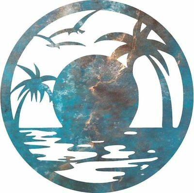 DXF CNC dxf for Plasma Beach Sun Man Cave Wall Art Home Decor  Ocean Beach
