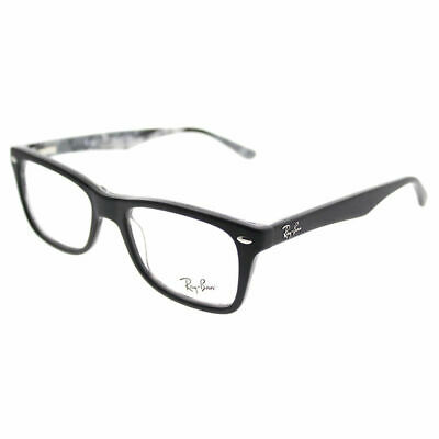 54a2da8dc8 Ray-Ban RX 5228 5405 Top Black On Logomania Plastic Rectangle Eyeglasses  50mm