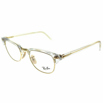 Ray-Ban Clubmaster RX 5154 5762 Transparent Plastic Clubmaster Eyeglasses 51mm