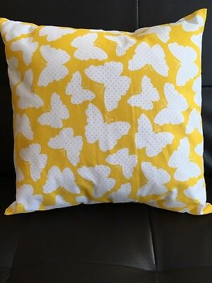 "12"" Handmade Cushion Cover Yellow Butterfly's 🦋🦋"