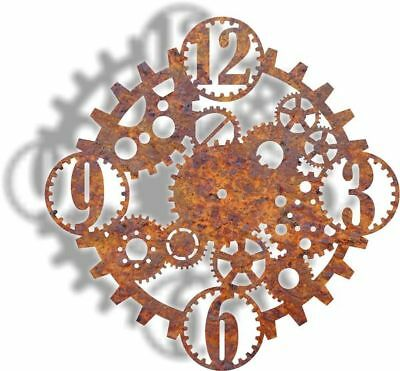 DXF CNC dxf for Plasma  Steam PunK Clock 2Cave Wall Art Home Decor